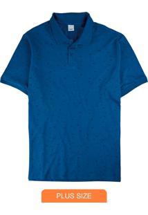 Camisa Azul Polo Gaivotas Em Piquê