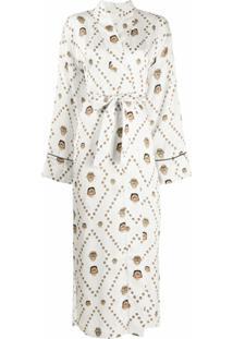 Kirin Kimono Com Estampa - Branco
