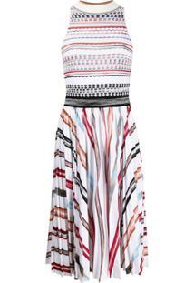 Missoni Vestido De Tricô Com Padronagem Contrastante - Branco