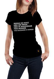Camiseta Hunter Regras Do Rolê Preta