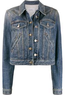 Givenchy Jaqueta Jeans Cropped Com Botões - Azul