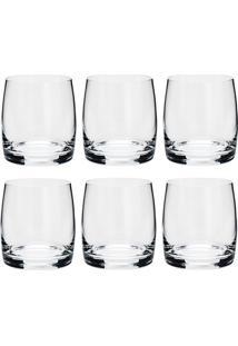 Conjunto 6 Copos Baixos De Cristal 330 Ml Ideal - Bohemia - Transparente