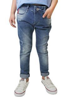 Calça Jeans Infantil Oznes Menino Azul - 6
