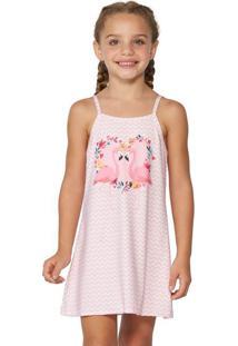 Vestido Saída De Praia Infantil Flamingo | 573.758