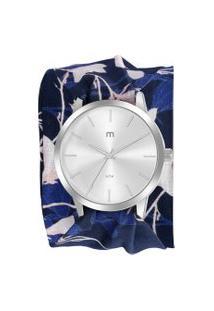 Kit De Relógio Analógico Mondaine Flower Power Feminino + Pulseira - 32024L0Mgnd2K Prateado