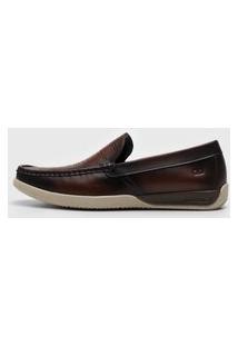 Sapato Democrata Texturizado Marrom