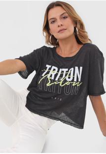 Camiseta Triton Logo Preta