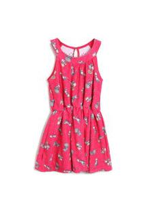 Vestido Carinhoso Estampa Pink