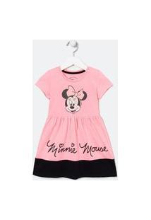 Vestido Infantil Minnie - Tam 1 A 6 Anos | Minnie Mouse | Rosa | 04
