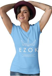 Camiseta Gola V Ezok Urban Azul Claro