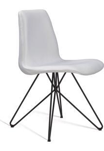 Cadeira Eames Base Aço Carbono Daf Cru