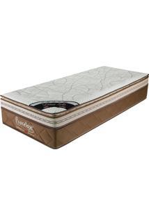 Colchão Solteiro 188X88X36 Latex Soft Gel Pillow Top -Prorelax - Bege / Marrom