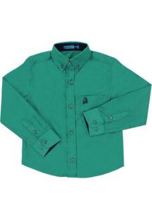 Camisa Manga Longa Infantil Tassa Masculina - Masculino-Verde