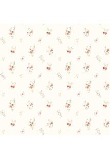 Papel De Parede Floral- Vermelho & Verde- 300X0,58Cmjmi Decor