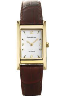 Relógio Analógico Jv01619Dou- Dourado & Marrom- Jeanjean Vernier