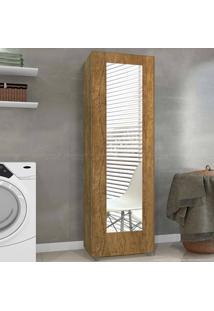 Sapateira 1 Porta Com Espelho Atena Mel - Mavaular Móveis