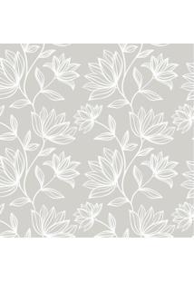 Papel De Parede Adesivo Floral Elegante (0,58M X 2,50M)