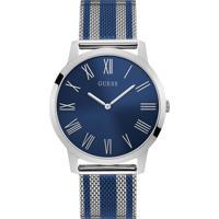 5711efd68 Relógio Guess Masculino Aço Prateado E Azul - W1179G1