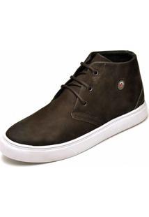 bdeeee6ab8 Sapato Casual Em Couro Cano Alto Dr Shoes Marrom