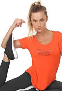 Camiseta Alto Giro Lettering Neon Laranja