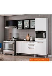 Cozinha Compacta Dandara 6 Pt 1 Gv Branca E Preta