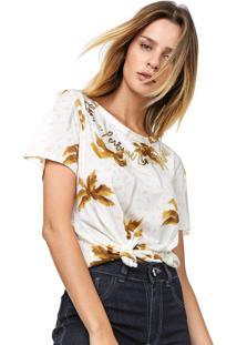 Camiseta Lança Perfume Estampada Off-White/Amarela