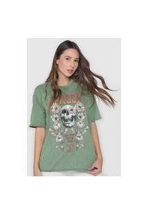 Camiseta Colcci Caveira Verde