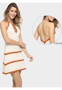 Vestido Colcci Tricot Frente Única - Feminino