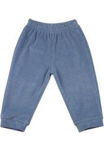 Calça Bebê Ano Zero Liso Masculina - Masculino-Azul