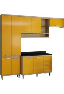 Cozinha Compacta Multimóveis Sicília 5841.132.695.610 Argila Amarelo Se