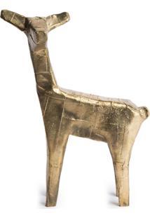 Pulpo Estátua De Veado Feita À Mão - Dourado