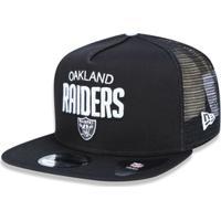 Boné 950 A-Frame Oakland Raiders Nfl Aba Reta Snapback New Era - Masculino- 2de4346941b