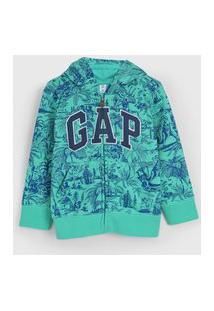 Jaqueta Gap Infantil Estampada Verde