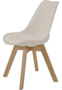 Cadeira Leda Eames Polipropileno Nude Base Madeira - 47290 - Sun House