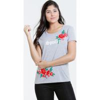3b495cecb Blusa Feminina Estampa Flores Manga Curta Marisa