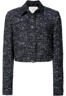 Adam Lippes Jaqueta Cropped De Tweed - Azul