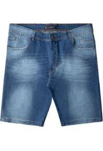 Bermuda Jeans Plus Size Prs Masculina - Masculino-Azul