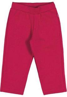 Calça Framboesa-Bebê Menina-Moletom-35610-593 - Feminino-Vermelho