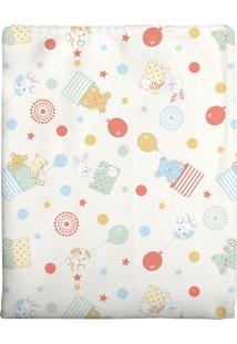 Cobertor Incomfral 100% Algodão Para Bebê 90 X 1,10Cm Amarelo