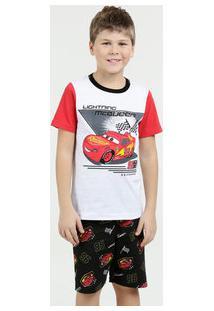 Pijama Infantil Estampa Carros Manga Curta Disney