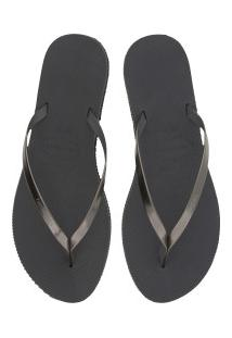 Chinelo Havaianas You Metallic 16 - Feminino - Cinza