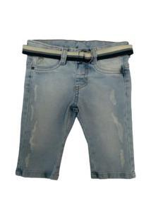Calça Jeans Destroyed Quase Anjo Azul