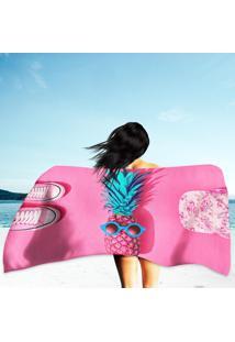 Toalha De Praia / Banho Abacaxi Roxo