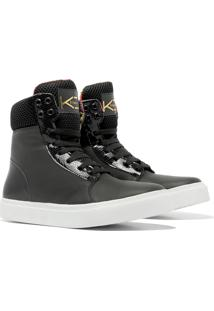 Sneaker K3 Fitness Bland Preto