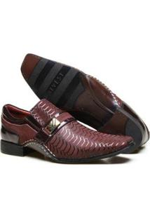 Sapato Social Couro Calvest Textura E Costura Manual Masculino - Masculino