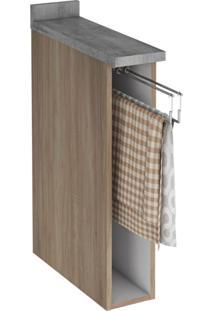 Módulo De Cozinha Fluence Aveiro E Concreto