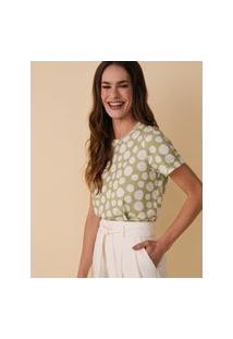 Amaro Feminino Camiseta Estampada Special, Flat Fresh Poa