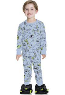 Pijama Estampado Azul