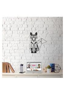 Escultura De Parede A Laser Fox Único