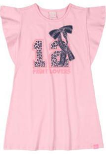 Vestido Infantil Animal Print Rosa